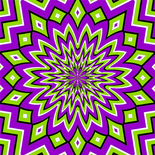 Gold background with many spiral - 3rd Grade Mrs Faxlanger Optical Illusions For Kids